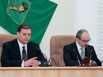 Михаил Добкин и Геннадий Кернес. Фото DELFI