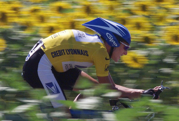 Лэнс Армстронг на дистанции «Тур де Франс» 1999 года