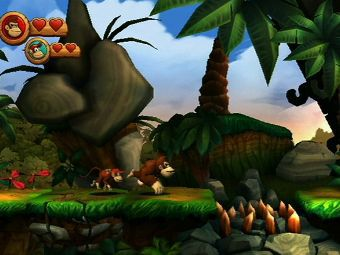 Скриншот Donkey Kong Country Returns