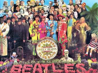 """Обложка альбома The Beatles """"Sgt. Pepper's Lonely Hearts Club Band"""""""