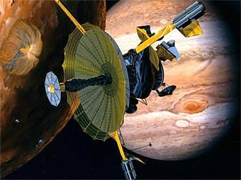 """Космический аппарат """"Галилео"""" первым продемонстрировал аномальное ускорение вблизи Земли. Изображение NASA/JPL"""