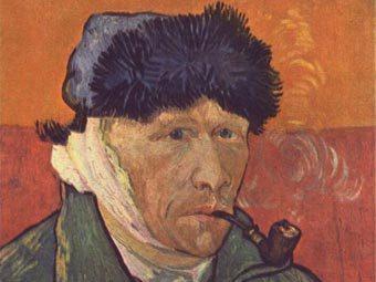 """Ван Гог """"Автопортрет """". Фрагмент репродукции с сайта wikipedia.org"""