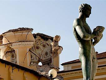 Последствия землетрясения в Италии. Фото (c)AFP