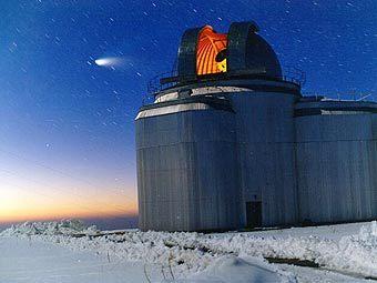 Один из телескопов специальной астрофизической обсерватории РАН. Фото с сайта w0.sao.ru