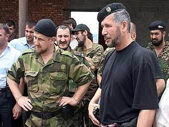 Рамзан Кадыров и руководители чеченских силовых формирований. Архивное фото (c)AFP
