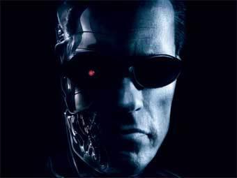 """Фрагмент официального постера к фильму """"Терминатор 3. Восстание машин"""""""