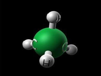 Молекула метана. Изображение с сайта nai.arc.nasa.gov