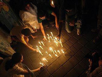 Траурная церемония в Мумбаи. Фото (c)AFP