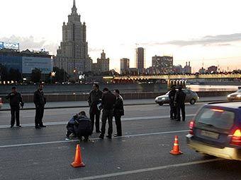Место гибели Руслана Ямадаева. Фото AFP