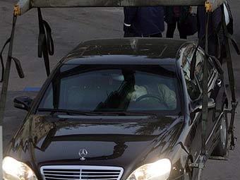 На месте убийства Руслана Ямадаева. Фото AFP