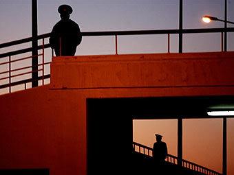 Полицейские в Ашхабаде. Фото AFP.