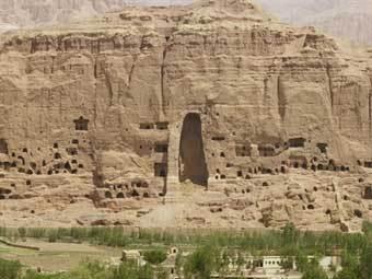 Панорама скального монастыря в Бамиане. Архивное фото AFP