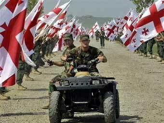 Грузинские военнослужащие. Фото AFP