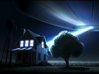 """Кадр из анимационного фильма """"Lifted"""" студии Pixar"""
