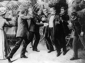 Убийство Уильяма Маккинли. Рисунок 1905 года