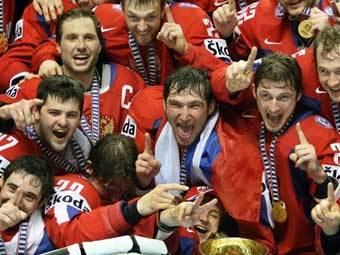 Хоккеисты сборной России. Фото AFP