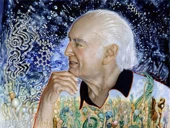 Портрет Альберта Хофманна кисти Роберта Венозы. Фрагмент репродукции с сайта maps.org