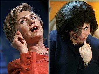 Хиллари Клинтон и Моника Левински. Фотографии AFP