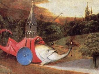 "Фрагмент триптиха ""Искушение святого Антония"" кисти Иеронима Босха"