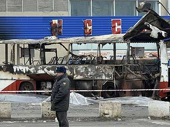 """Взорванный в Невинномысске """"Икарус"""". Фото AFP"""