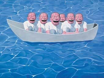 """""""Ноев ковчег"""" Юэ Миньцзюня. Репродукция с сайта queensmuseum.org"""