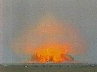 Взрыв новой бомбы. Кадр Первого канала.