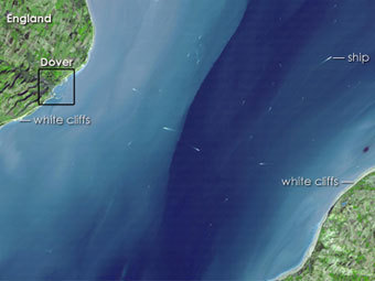 Па-де-Кале, фотография со спутника Terra, NASA