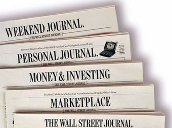 Экземпляр The Wall Street Journal. Иллюстрация с сайта innovationnewspapers.com