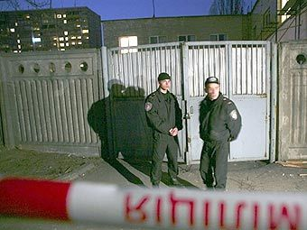 Место убийства Максима Курочкина, фото AFP