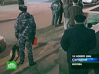 Милиция в районе происшествия. Кадр телеканала НТВ