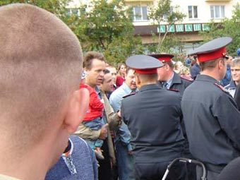 Митинг в Кондопоге. Фото с сайта www.cityk.ru