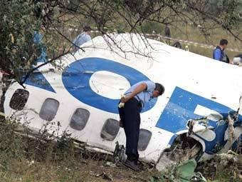"""Место падения Ту-154 """"Пулковских авиалиний"""". Фото AFP"""