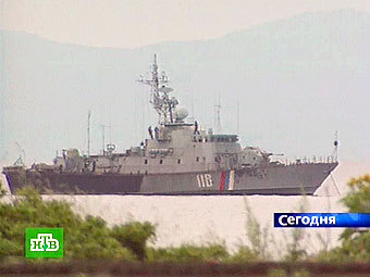 Российское пограничное судно. Кадр НТВ