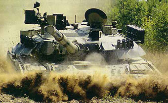 Танк Т-80У Российской армии. Фото с сайта armor.kiev.ua