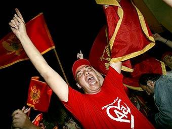 Демонстрация сторонников независимости Черногории. Фото AFP