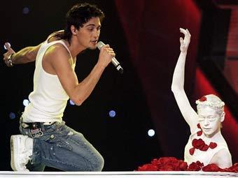 "Дима Билан на конкурсе ""Евровидение-2006"", фото AFP."