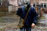 Журналист на экскурсии по Припяти, фото Екатерины Чекушиной Lenta.ru