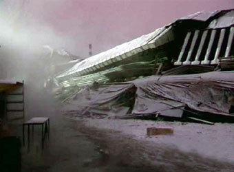 Руины Басманного рынка. Кадр телеканала НТВ, архив