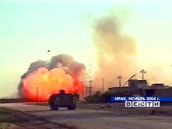 """Американские войска на окраине Фаллуджи. Кадр телекомпании RAI, переданный в эфире ТК """"Россия"""""""