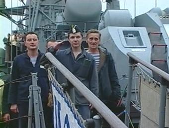 Экипаж батискафа АС-28, кадр РТР