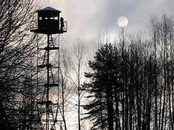 Пост на белорусско-польской границе, фото Reuters