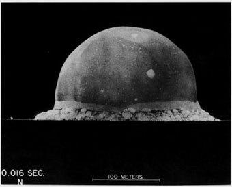 Первый ядерный взрыв, фото с сайта firstpulseprojects.com