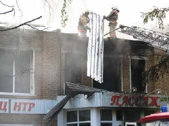 Пожар в Ухте, фото с сайта ukhta.ru
