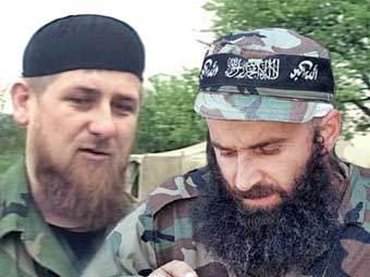 Рамзан Кадыров и Шамиль Басаев, кадр НТВ, фото Reuters