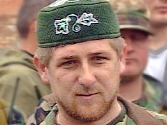 Первый вице-премьер правительства Чечни Рамзан Кадыров. Съемка НТВ, архив