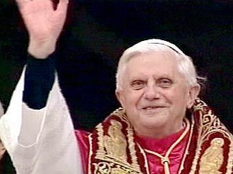 Папа Бенедикт XVI. Кадр телеканала CNN