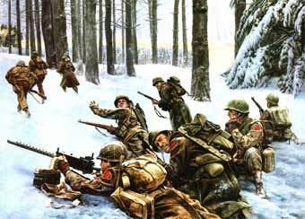 Арденнская операция. Иллюстрация с сайта 455th.ukpc.net