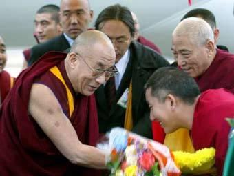 Прибытие Далай-ламы в Элисту. Фото Reuters