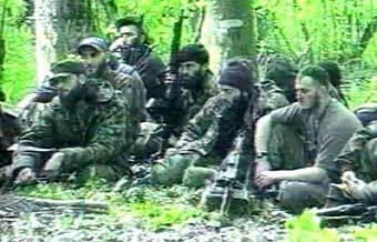 Чеченские боевики. Кадр телеканала НТВ, архив
