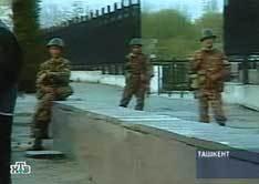 На месте теракта в Ташкенте. Кадр телеканала НТВ, архив
